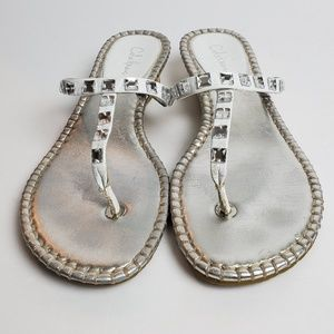 Cole Haan Kalla Wedge Espadrille Thong Sandals